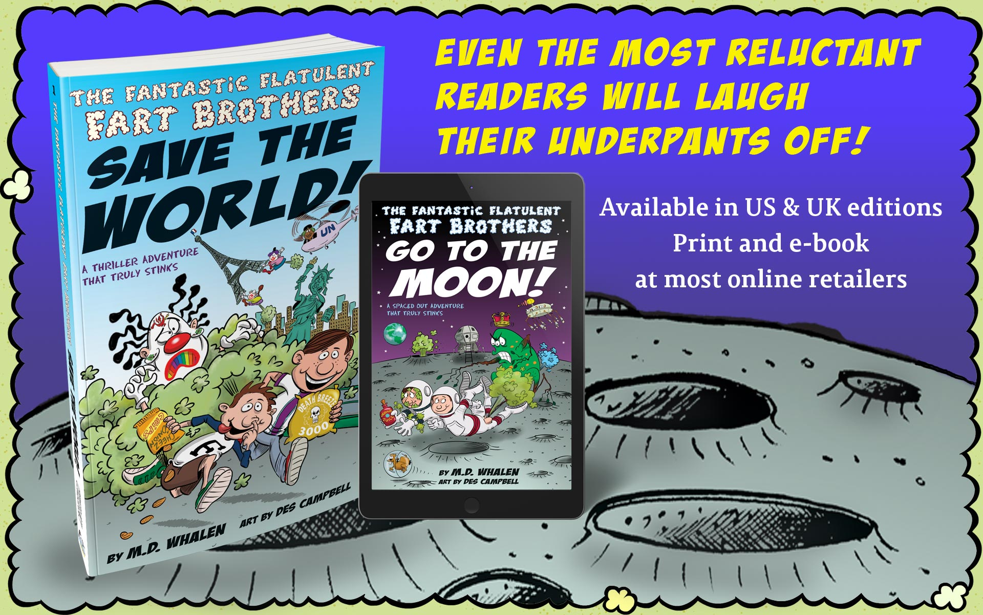 Fart books in paperback and e-book